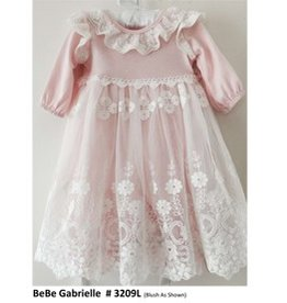 Bebe Gabrielle Pink W/ White Lace And White Lace Headband