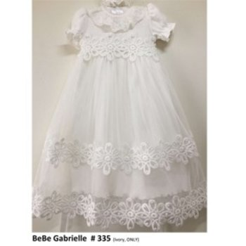 Bebe Gabrielle Lace and Mesh Overlay Gown an Headband