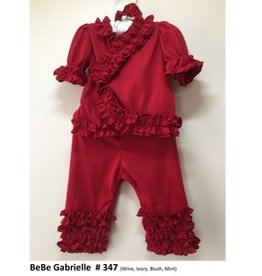 Bebe Gabrielle Red Ruffle 2/pc Set