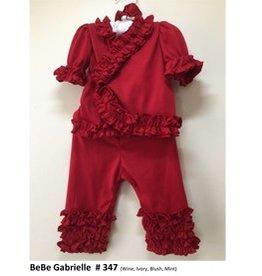 Bebe Gabrielle Red Ruffle 2/pc Set