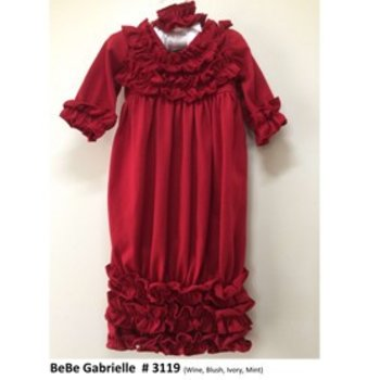 Bebe Gabrielle Red Ruffle Gown With Ruffle Headband