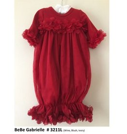 Bebe Gabrielle Red Mesh Flower Gown