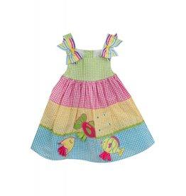 Rare Editions Fish Seersucker Dress