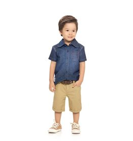Quimby Ombre Denim Button Up Shirt