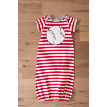 Wally & Willie Red Striped Baseball Gown