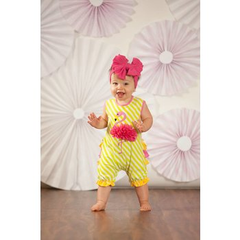 Molly & Millie Lemonade Flamingo Romper