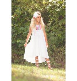 Peaches 'n Cream White Gauze Neon Beach Dress