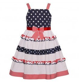 Bonnie Baby Red/White/Blue Ruffle Dress