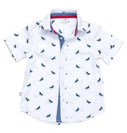 Frenchie Horse Button Down Shirt