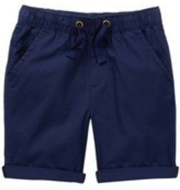 Frenchie Navy Blue Elastic Waist Shorts