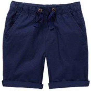 Frenchie Navy Blue Elastic Waist Shorts