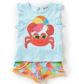 Rare Editions Beach Ball Crab Tunic And Short Set