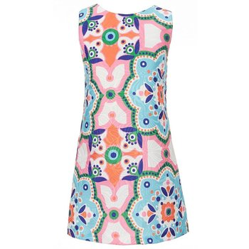Rare Editions Summer Medallion Print Shift Dress