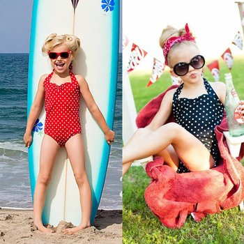 Red and White Polka Dot Pin Up Swim Suit