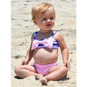 Frou Frou & Company Camille Watercolor Stripe Swimsuit