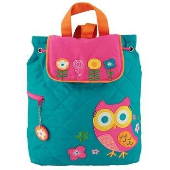 Stephen Joseph Girls Quilted Owl Backpack