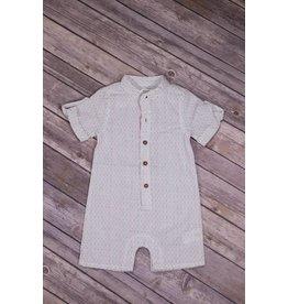 Frenchie Color Stitch Linen Play Suit