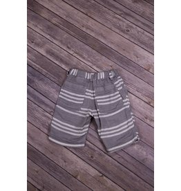 Bit'z Kids Heather Grey and White Striped Shorts
