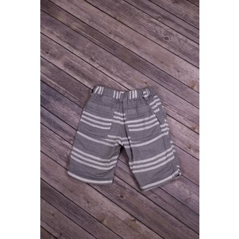 Bit'z Kids Heather Grey and White Striped Shorts