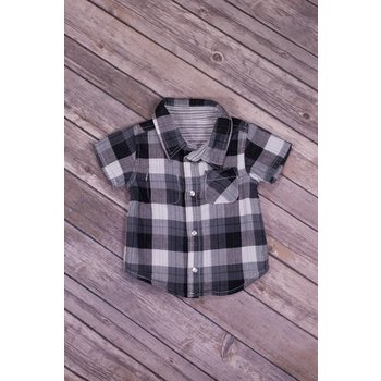 Bit'z Kids Grey Plaid Reversible Shirt