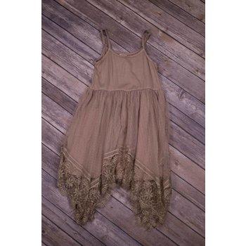 MLKids Taupe Lace Tank Dress