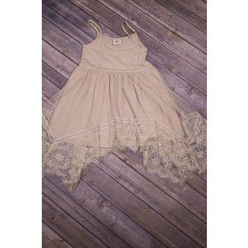 MLKids Beige Lace Tank Dress