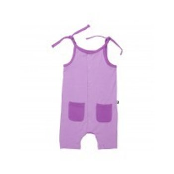 Sweet Bamboo Purple Bamboo Romper With Pockets