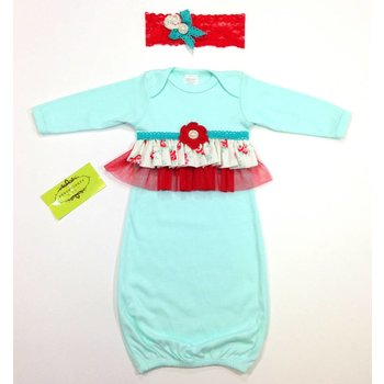 Persnickety Baby Daisy Rose Gown and Headband