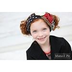 Mustard Pie Black Floral Headband