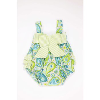 Millie Jay Royal & Lime Paisley Bow Bubble