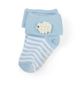 Mud Pie Blue Lamb Socks