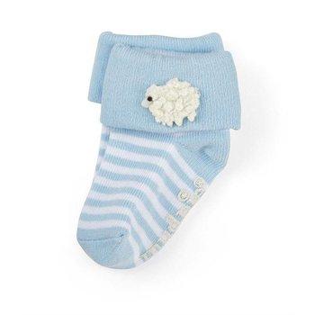 Mud Pie Blue Lamb Socks