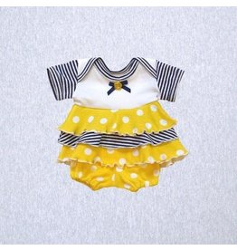 Premie Yums Yellow Dot Dress And Bloomer