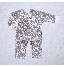 Premie Yums Gray Damask Print Shirt And Legging
