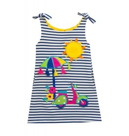 Rare Editions Navy Blue Stripped Sunny Dress