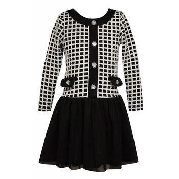 Jackie O Black and White Dress