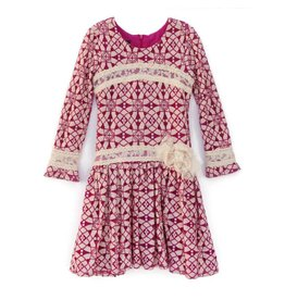 Isobella & Chloe Kaleidoscope Drop Waist Dress