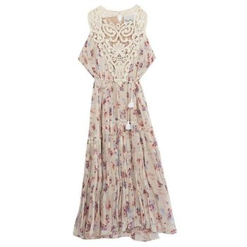 Rare Editions Rose & Beige Flower Pattern Dress