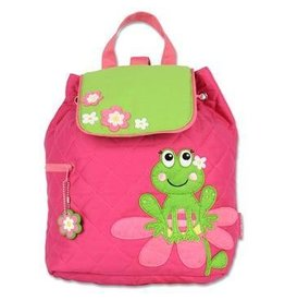 Quilted Pink frog Backpack