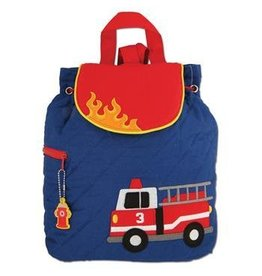 Stephen Joseph Quilted FireTruck Backpack