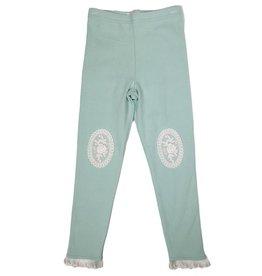 Mae Li Rose Mint Lace Knee Patch Leggings