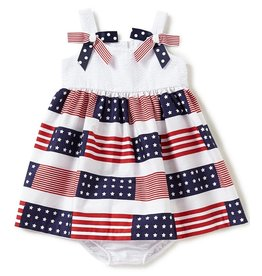 Bonnie Jean American Flag Dress