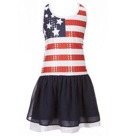 Bonnie Jean American Flag Sequin Dress