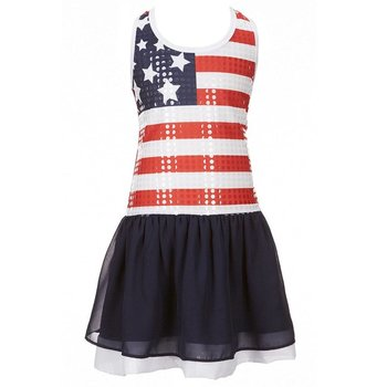 Bonnie Baby American Flag Sequin Dress