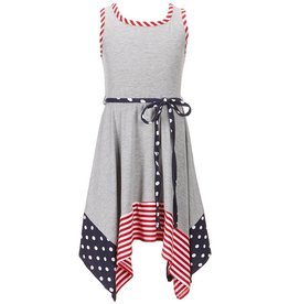 Bonnie Jean Heather Grey Handkerchief Dress