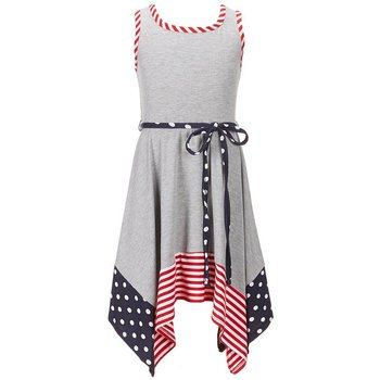 Bonnie Baby Heather Grey Handkerchief Dress
