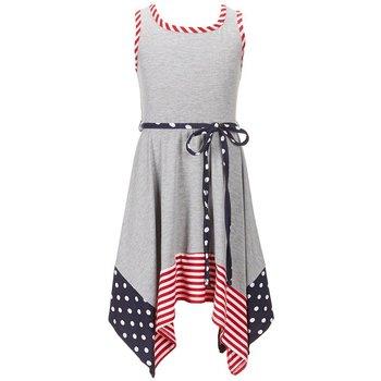 Bonnie Baby Heather Grey Handkerchief Dress