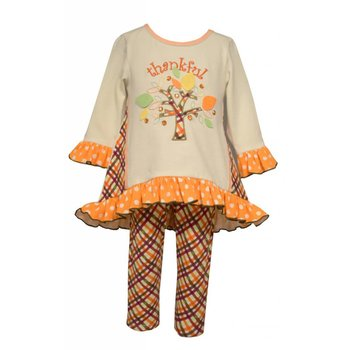 Bonnie Baby Long Sleeve Thankful Tunic and Legging Set