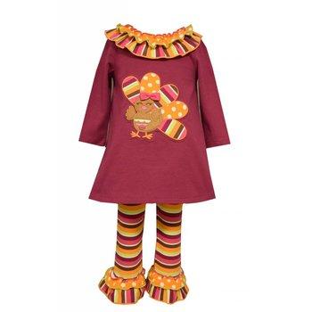 Bonnie Baby Long Sleeve Turkey Tunic and Legging Set