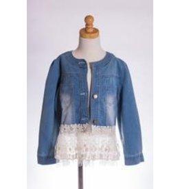 MLKids Crochet Lace Hem Jacket